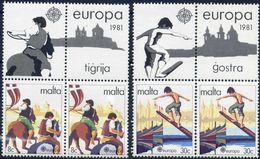 Malta 1981 - Europa Cept - Set With Vignettes MNH** - Europa-CEPT