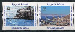 N° 1755 / 1756  Maroc ** Année 2017 - Port Tanger Med - - Morocco (1956-...)