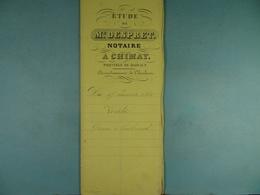 Acte Notarié 1860 Vente De Grenier De Virelles à Coulonval De Vaulx /16/ - Manuscrits