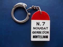 """Ancien Porte Clefs.  Borne """" NOUGAT GERBE D'OR """" - Porte-clefs"""
