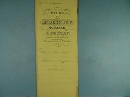 Acte Notarié 1858 Vente De Bayard De Bourlers à Coulonval De Vaulx /18/ - Manuscrits