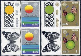 Malta 1986 - Europa Cept - Set With Vignettes MNH** - 1986