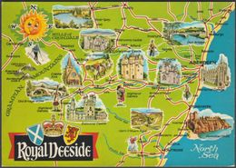 Map - Royal Deeside, Aberdeenshire - ETW Dennis Postcard - Aberdeenshire