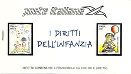 ITALY, 1991, Booklet 12, UNICEF Booklet - Italia