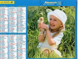 ALMANACH  DU FACTEUR  2006  EDITION   LAVIGNE    ENFANT MOUTON POUSSIN - Calendars