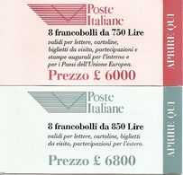 ITALY, 1995, Booklet 15/16, Poste Italiane Public Co. - Italia