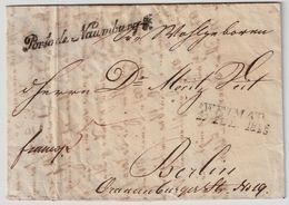 "Preußen, 1838, "" Porto De Naumburg ""     , A110 - Prussia"