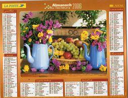ALMANACH  DU FACTEUR  2006  EDITION   LAVIGNE    NATURE FRUITS FLEURS - Calendars
