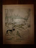 1890  Protège-cahier Illustré Par Paul De Semant,de La Collection Godchaux : LA CHASSE AU LOUP, Imp. Auguste Godchaux - Book Covers