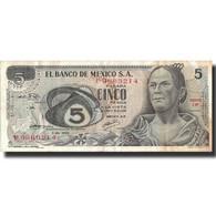 Billet, Mexique, 5 Pesos, 1969, 1969-12-03, KM:62a, TTB - Mexique