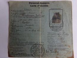 AUSWEIS 14/18    Carte D'identité Française N°57427 - 1914-18