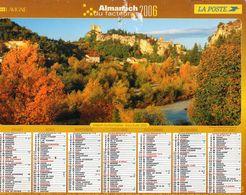 ALMANACH  DU FACTEUR  2006  EDITION   LAVIGNE   NATURE LAVANDE TOURISME - Calendars