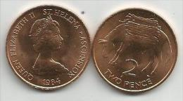 Saint Helena And Ascension 2 Pence 1984. UNC - Sainte-Hélène
