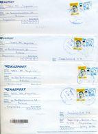 Kazakhstan. Four Envelope Passed The Mail. Four Envelopes Registered. - Kazakhstan