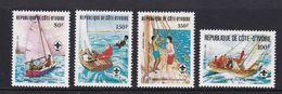 Côte D'Ivoire : Serie 613 / 616 & 357 =>  SCOUTSZEGELS** ( Postfris ) - Côte D'Ivoire (1960-...)