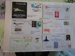 Lot De 6 Concorde 1er  Vol Et Endurance Voir La Photo - Concorde