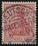 71 Germania 10 Pf. Deutsches Reich Ohne WZ, O - Duitsland
