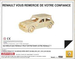 JEU DE CONSTRUCTION EN BOIS AUTO AUTOMOBILE RÉGIE RENAULT  MAGAZINE L'AUTOMOBILE - Other