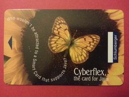 Test Schlumberger Cyberflex Java Papillon Sans Puce Demo - Télécartes