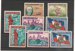 HAÏTI Années 1959/60 Jeux Panaméricains N° Y/T : P.A. N° 173/78** Et P.A. N° 206/07** - Haïti