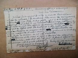 """Kaart Verzonden Vanuit  """" BUDBERG """" Aan M.  DéBOURIEUR  Vanuit Duitsland Naar Brussel 1918 - Guerre 1914-18"""