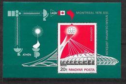 Hongrie Bloc N° 125  Jeux Olympiques De Montréal  Neuf  * * TB  MNH  VF  TB Soldé ....... - Summer 1976: Montreal