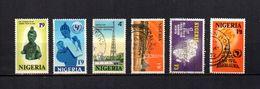 Nigeria   1971-72  .-  Y&T  Nº   259-262-263-265-268/269 - Nigeria (1961-...)