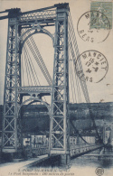 Port Sainte Marie 47 - Pont Suspendu - Editeur O. P.B. ? - Oblitérations 1924 Manciet Gers - France