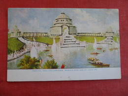 1904 St Louis Worlds Fair Festival Hall & Cascades  Glitter Added       =====ref 2912 - Exhibitions