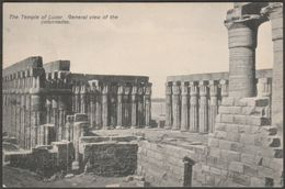 General View Of The Colonnades, Temple Of Luxor, C.1910 - Postcard - Luxor