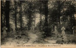 CPA Crécy Sur Serre. Cimetiére Du Bois De Richemont. (666398) - Andere Gemeenten