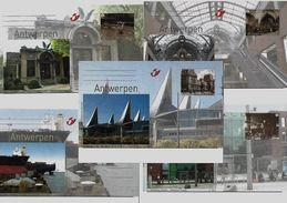 BELGIE - BELGIQUE  -  BK196/200 - Antwerpen  - Vroeger En Nu - 2010 - AAN POSTPRIJS - PRIX DE LA POSTE - Entiers Postaux