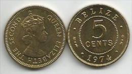 Belize 5 Cents 1974. AUNC - Belize