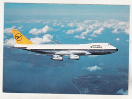 Germany Old Uncirculated Postcard - Aviation - Condor Flugdienst GmbH - Jumbo Jet Boeing 747-200 - 1946-....: Moderne
