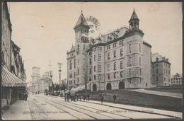 L'Hôtel De Ville Et La Basilique, Québec Ville, Québec, 1910 - CPA - Québec - La Cité