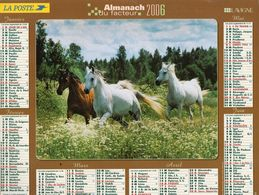 ALMANACH  DU FACTEUR  2006  EDITION   LAVIGNE  CHEVEAUX - Calendars