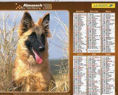 ALMANACH  DU FACTEUR  2006  EDITION   LAVIGNE  CHEVEAUXCHIEN CHEVAL - Calendars