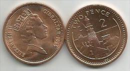 Gibraltar 2 Pence 1995. UNC - Gibraltar