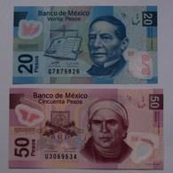 MEXIKO - MEXICO 20 + 50 Pesos 2006 + 2009 Polymer UNC Pick 122/3  (21141 - Autres - Amérique