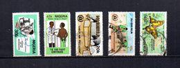 Nigeria   1982  .-  Y&T  Nº   402/403-405-407-411 - Nigeria (1961-...)