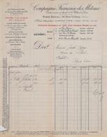 75 14 033 A PARIS SEINE 1905 COMPAGNIE FRANCAISE DES METAUX Usine à CASTELSARRASIN DEVILLE ROUEN SERIFONTAINE GIVET - France