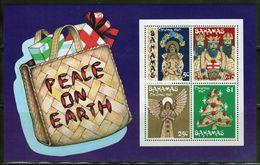 Bahamas 1980 Mini Sheet Celebrating Christmas.  This Mini Sheet Is In Mounted Mint Condition. - Bahamas (1973-...)