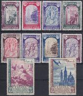 ESPAÑA 1940 Nº EDI. 904/13 - YVE.A202/11  NUEVO SIN GOMA - 1931-50 Nuevos & Fijasellos