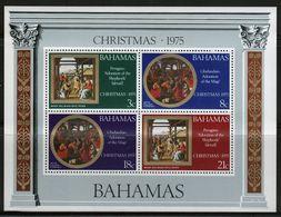 Bahamas 1975 Mini Sheet Celebrating Christmas.  This Mini Sheet Is In Mounted Mint Condition. - Bahamas (1973-...)