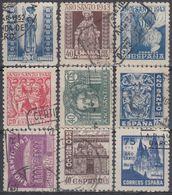 ESPAÑA 1944 Nº EDI. 961/69 - YVE. 718/26  USADO - 1931-Aujourd'hui: II. République - ....Juan Carlos I