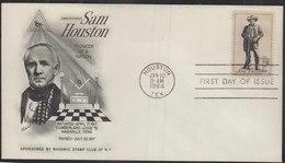 Sam Houston Raised Cumberland Lodge No 8   Freemasonry, Masonic Cover USA - Franc-Maçonnerie