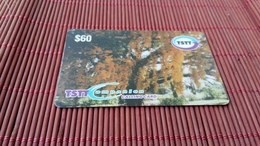 Prepaid Card Trinidad & Tobago  60 $ Used  2 Scans Rare - Trinidad & Tobago