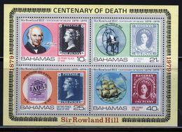 Bahamas 1979 Mini Sheet Celebrating Rowland Hill.  This Mini Sheet Is In Mounted Mint Condition. - Bahamas (1973-...)