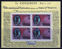 Bahamas 1976 Mini Sheet Celebrating USA Independence.  This Mini Sheet Is In Mounted Mint Condition. - Bahamas (1973-...)