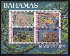 Bahamas 1977 Mini Sheet Celebrating Marine Life.  This Mini Sheet Is In Mounted Mint Condition. - Bahamas (1973-...)